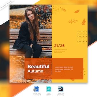 Herbstverkauf instagram post vorlage