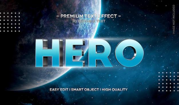 Hero 3d textstil-effektschablone