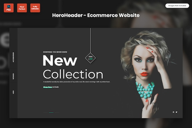 Hero header für e-commerce-websites