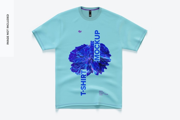 Herren baumwolle kurzarm t-shirt mockup