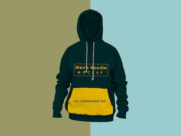 Herren hoodie modell isoliert
