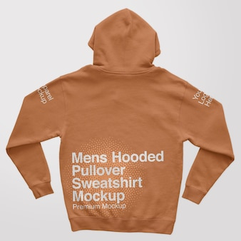 Herren kapuzenpullover zurück sweatshirt mockup