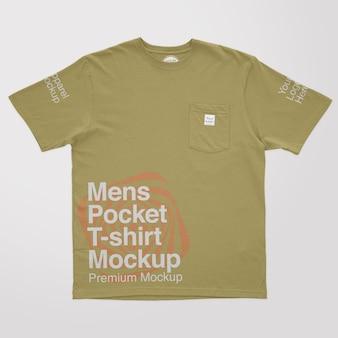 Herren t-shirt mit tasche mockup