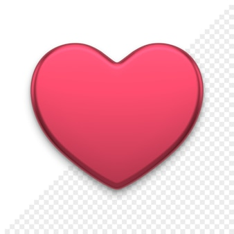 Herz 3d-symbol