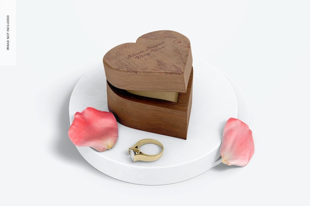 Herzförmiges ringbox-modell
