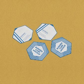 Hexagon visitenkartenmodell