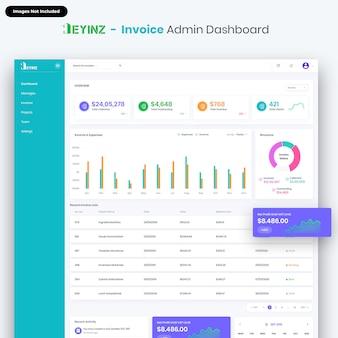 Heyinz-invoice admin dashboard ui kit