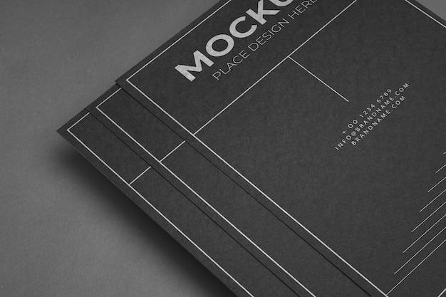 High-angle-corporate-briefpapier-modellock