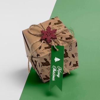High angle weihnachtsgeschenk