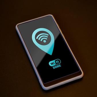 High view smartphone mit 5g konnektivität