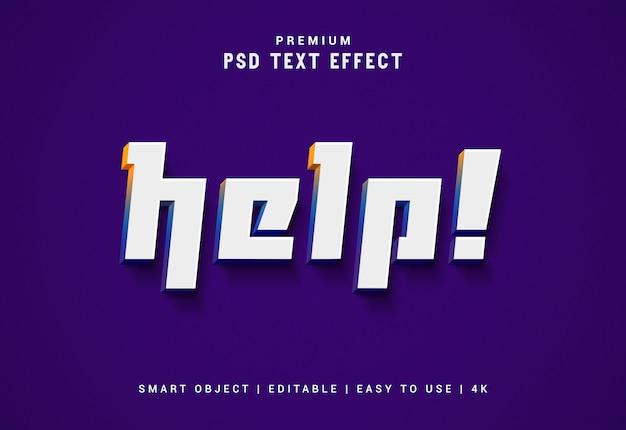 Hilfe editierbarer texteffektgenerator