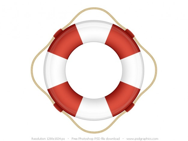 Hilfe-symbol, psd rettungsring
