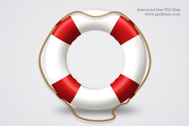 Hilfesymbol rettungsring psd