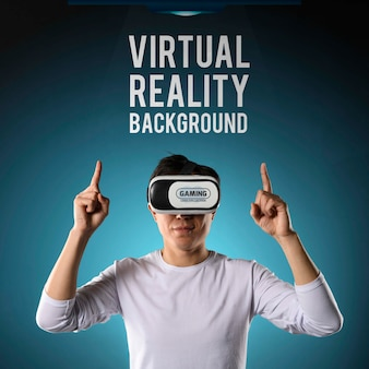 Hintergrund der virtuellen realität