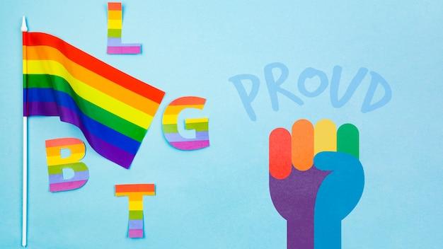 Hintergrund des homosexuellen stolzes mit der regenbogenflagge