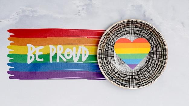 Hintergrund des homosexuellen stolzes mit elementen