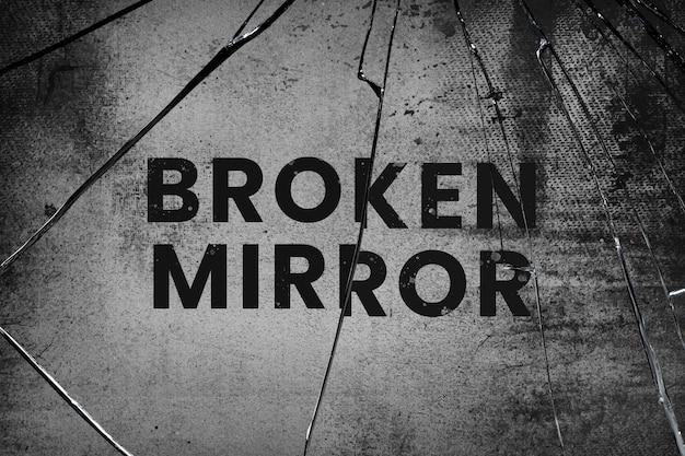 Hintergrund psd mit zerbrochenem spiegelglaseffekt