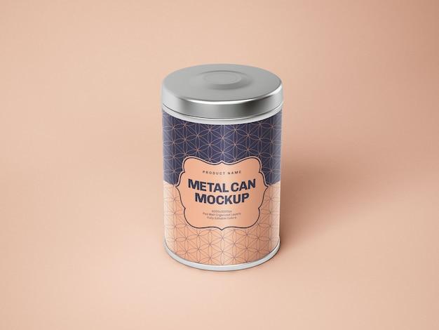 Hochglanz-blechdose box mockup