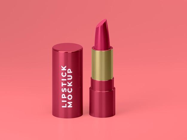 Hochwertiges rotes, stilvolles lippenstift-mockup-design