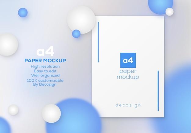 Hochwertiges, sauberes und minimales a4-modell