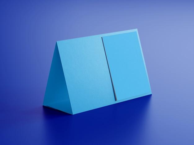 Hochwertiges tischkalendermodell der seitenansicht