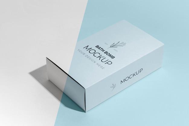Hochwinkel-badebombe und box-modell