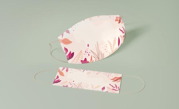 Hochwinkelschutzmasken mit muster