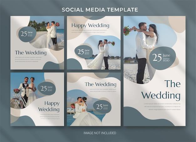 Hochzeit social media post bundle vorlage