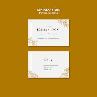 Hochzeit visitenkartenvorlage