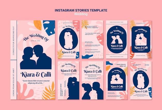Hochzeits-instagram-geschichtenschablone