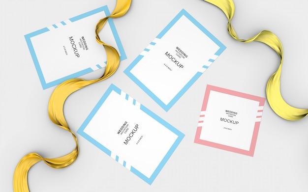 Hochzeits-karten-einladungs-modell-schablone