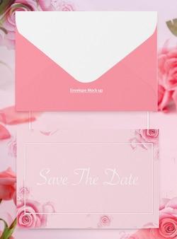 Hochzeitseinladungs-umschlagmodell