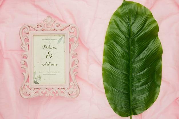 Hochzeitseinladungskonzeptmodell