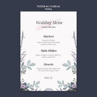 Hochzeitsereignis-flyer-schablonenstil