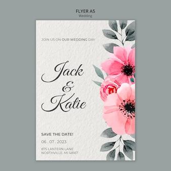 Hochzeitskonzept flyer vorlage