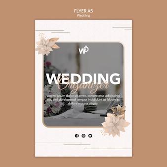 Hochzeitsorganisator flyer vorlage