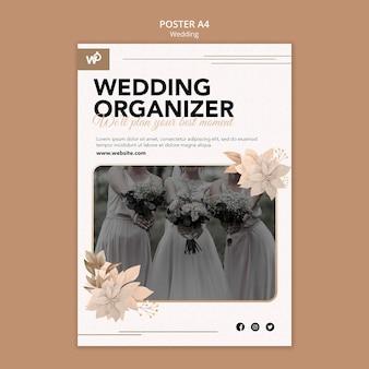 Hochzeitsorganisator-plakatschablone