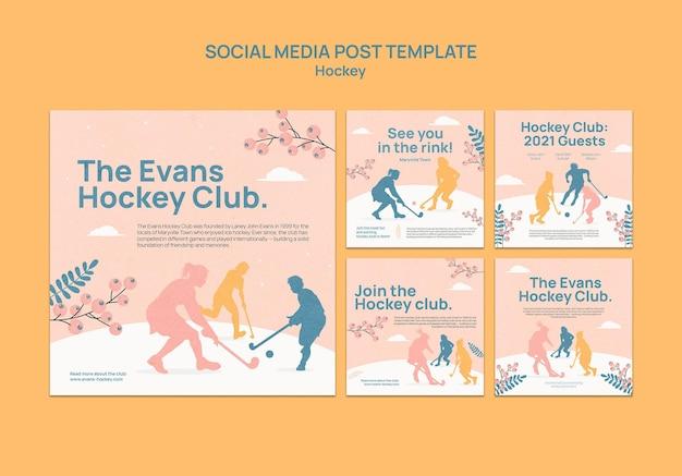 Hockey instagram posts vorlagendesign