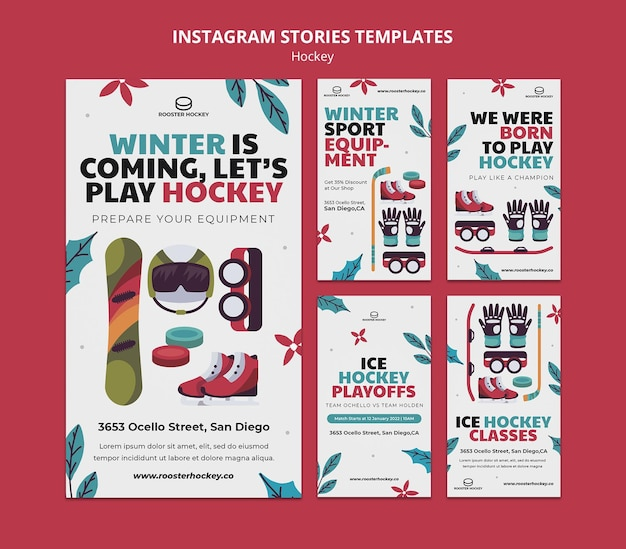 Hockey-social-media-geschichten eingestellt