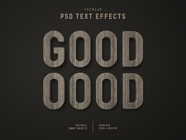 Hölzerner text-effekt