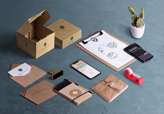 Hoher winkel des desktopszenen-ersteller-pac