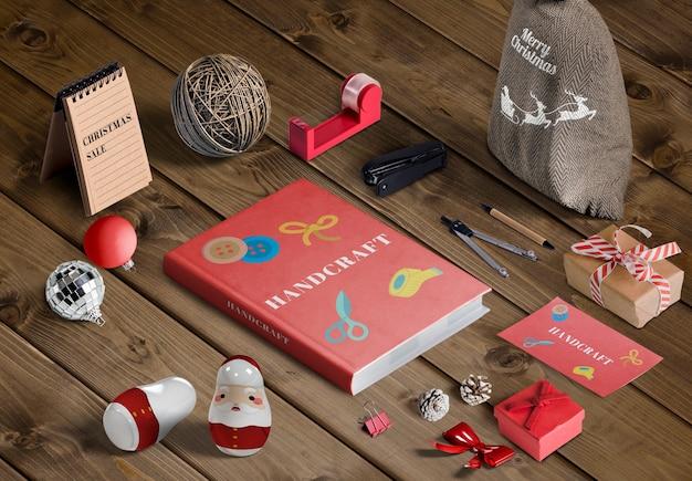 Hoher winkel des weihnachtsszenen-schöpferkonzeptmodells