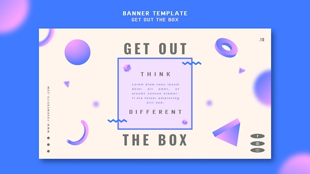 Holen sie sich die box-konzept-banner-vorlage