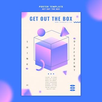 Holen sie sich die box-konzept poster vorlage