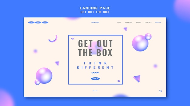 Holen sie sich die box landing page vorlage