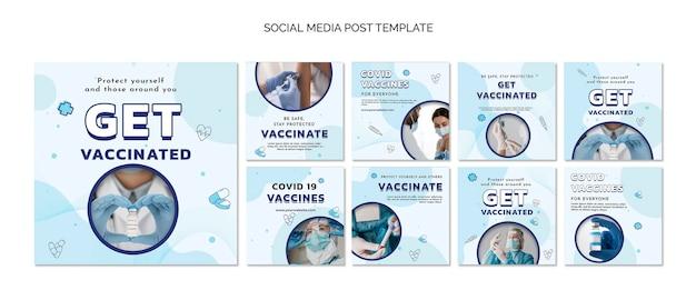 Holen sie sich eine geimpfte social-media-post-vorlage