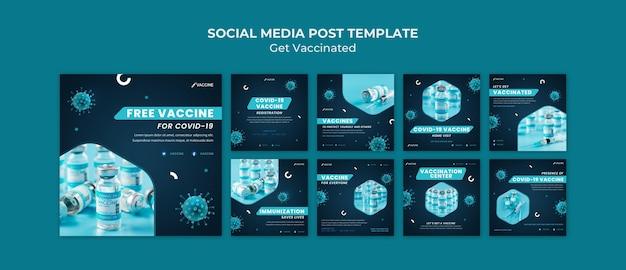 Holen sie sich geimpfte social-media-beiträge