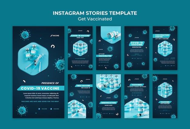 Holen sie sich geimpfte social-media-stories