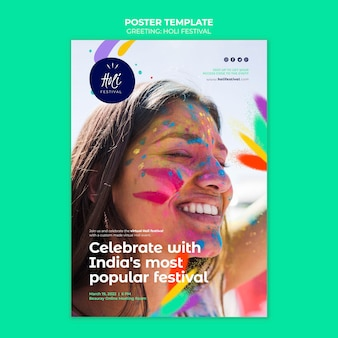 Holi festival druckvorlage print