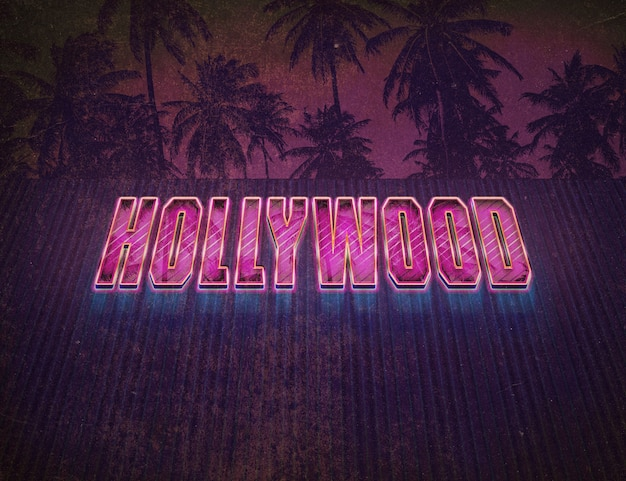 Hollywood vintage texteffekt